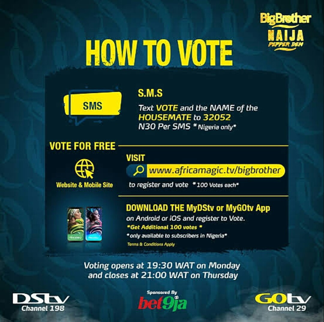 How to vote on BBNaija