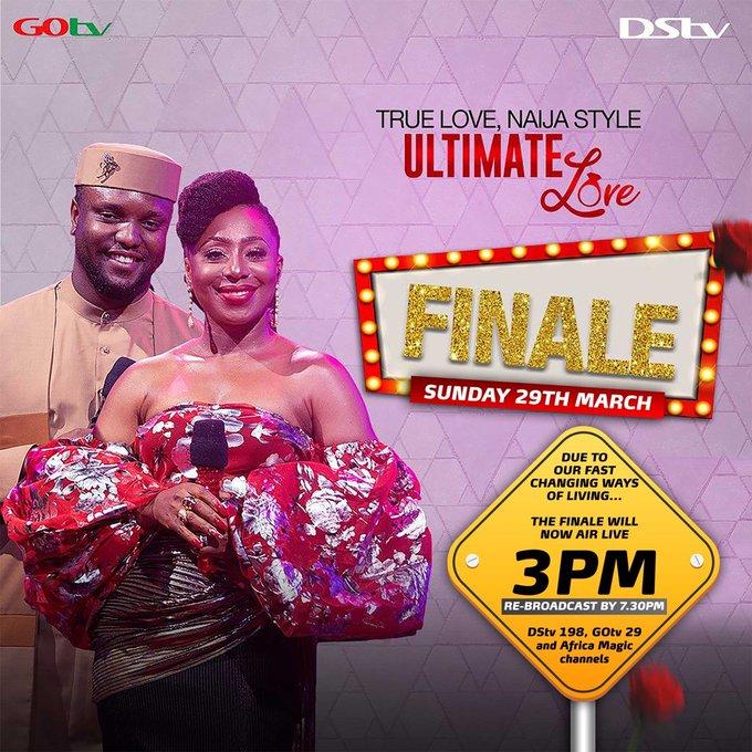 Ultimate Love Final Live Broadcast Time Today - BBNaija Daily