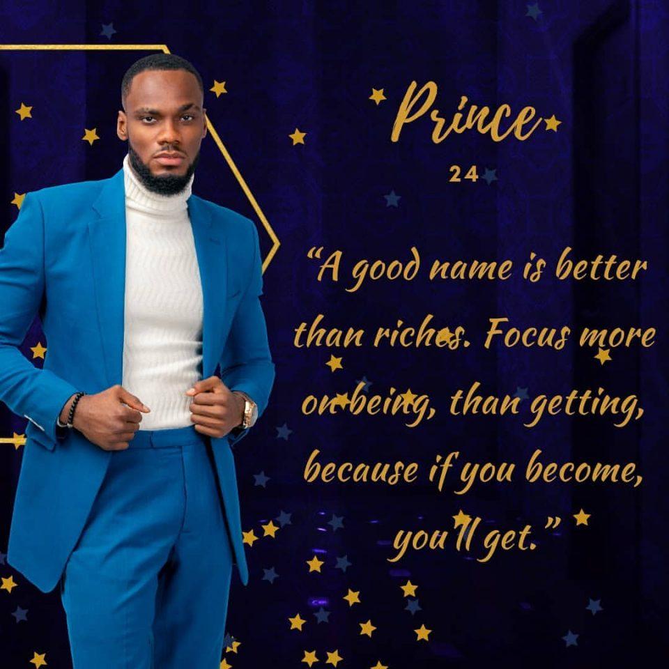 Prince BBNaija Housemate Profile & Biography   BBN ...
