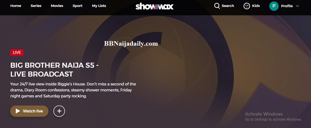 Show Max BBNaija