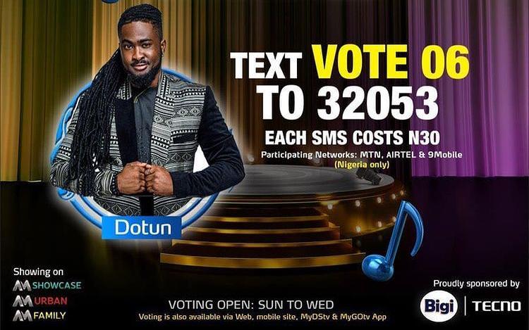 Vote Dotun Nigerian Idol