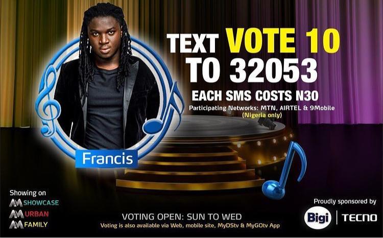 Vote Frances Nigerian Idol