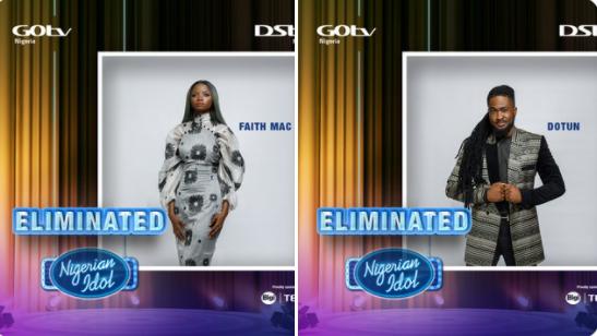 Faith Mac and Dotun Eliminated