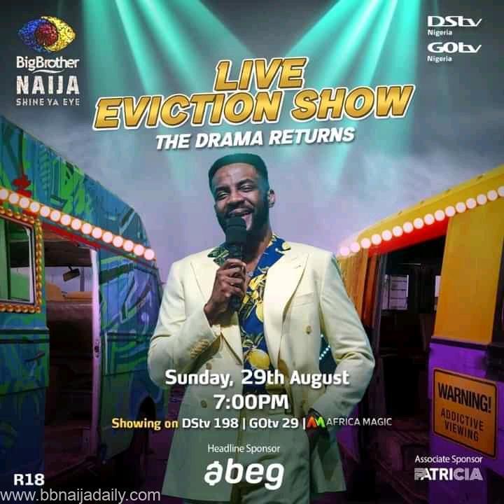 BBNaija 2021 Sunday Live Eviction Show