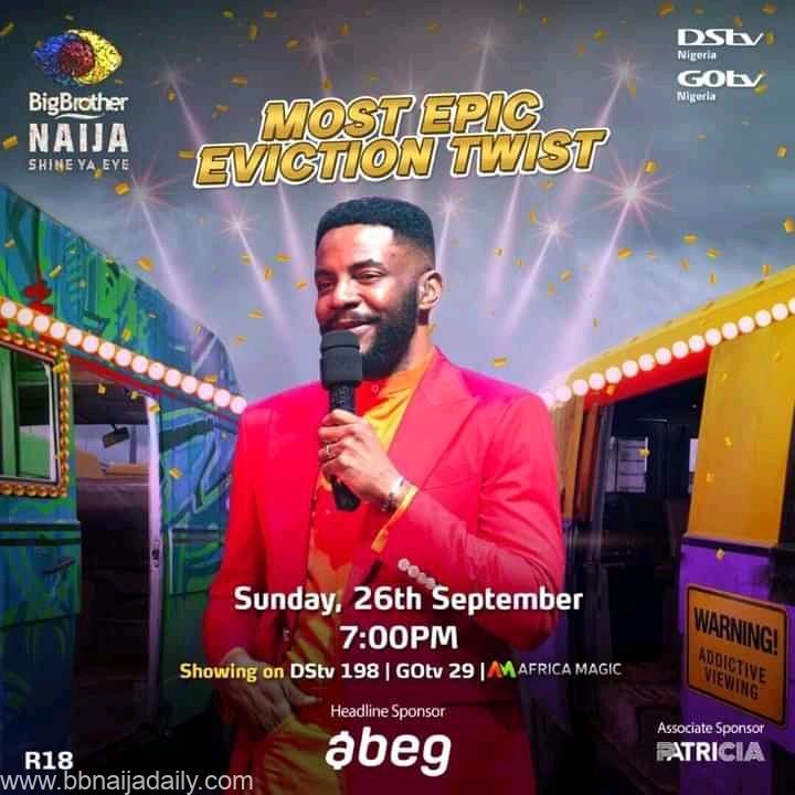 BBNaija Week 9 Sunday Live Eviction Show